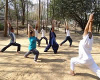 Teaching at Yoga University S-VYASA in India